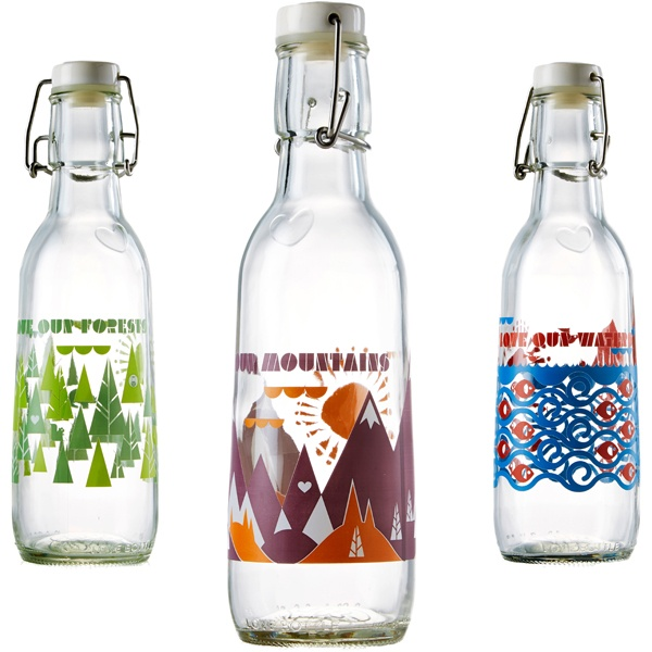 Best Alternatives to Plastic Water Bottles - Recycled Glass Water Bottle Set
