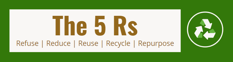 eco friendly words - the 5 Rs