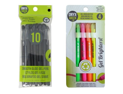 Eco Friendly School Supplies - Recycled PET Pens Highlighters