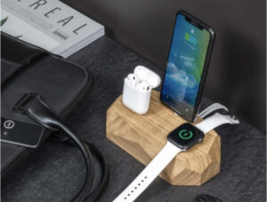 eco friendly gifts - Triple iPhone-Charging-Dock