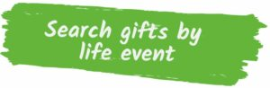 Search gifts by life event